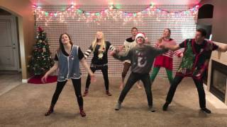 Incredible 2016 Christmas Dance with 8 Siblings - Mariah Carey & Pentatonix