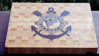 "Making ""s.c.corinthians Paulista"" End Grain Cutting Board"