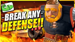 GAURANTEED DAMAGE!! New Best Royal Giant Deck Breaks ANY DEFENSE in Clash Royale!! 😱