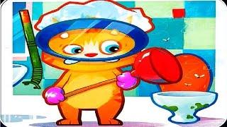 Говорящий рыжий кот джинджер  #9 мультик игра  для детей Talking Ginger  #Мобильные игры