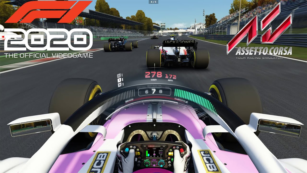 Comparing the Best F1 Titles on PC – F1 2020 vs Assetto Corsa – YouTube
