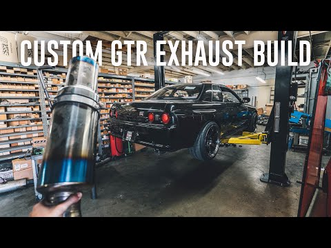 BUILDING A CUSTOM STRAIGHT PIPE EXHAUST FOR THE R32 GTR!