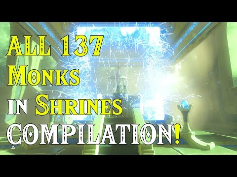 ALL 137 Monks in Shrines COMPILATION! Monks Appreciation in Zelda Breath of the Wild DLC