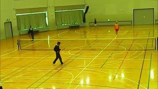 20171203音更町インドアソフトテニス玉置・志村VS川瀬・橋本 thumbnail