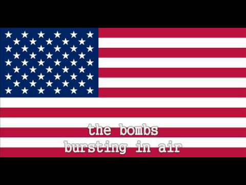 National Anthem of the United States Instrumental with lyrics