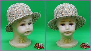 Шляпка крючком из пряжи Косичка. Шляпка для лета. Мастер класс вязания шляпки. Crochet hat.