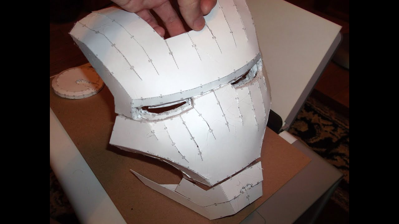 IRON MAN HELMET BUILD PART 1  CUTTING  ASSEMBLING  YouTube