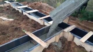 як зробити опалубку фундамент під будинок своїми руками