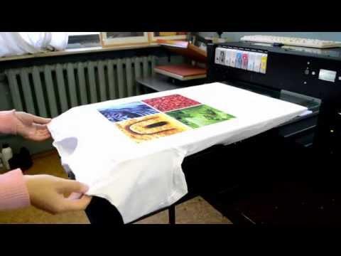 Цифровая печать на футболках.