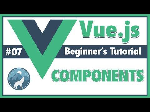 #7 Components in Vue.Js   Vue.Js Beginner's Tutorial thumbnail
