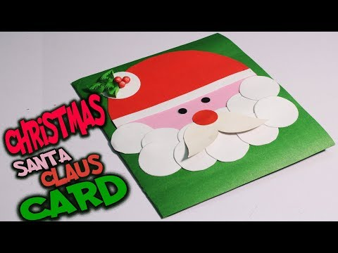 #DIY SANTA CLAUS CHRISTMAS CARD | How to make Greeting Card for Christmas 2017 | #christmascrafts