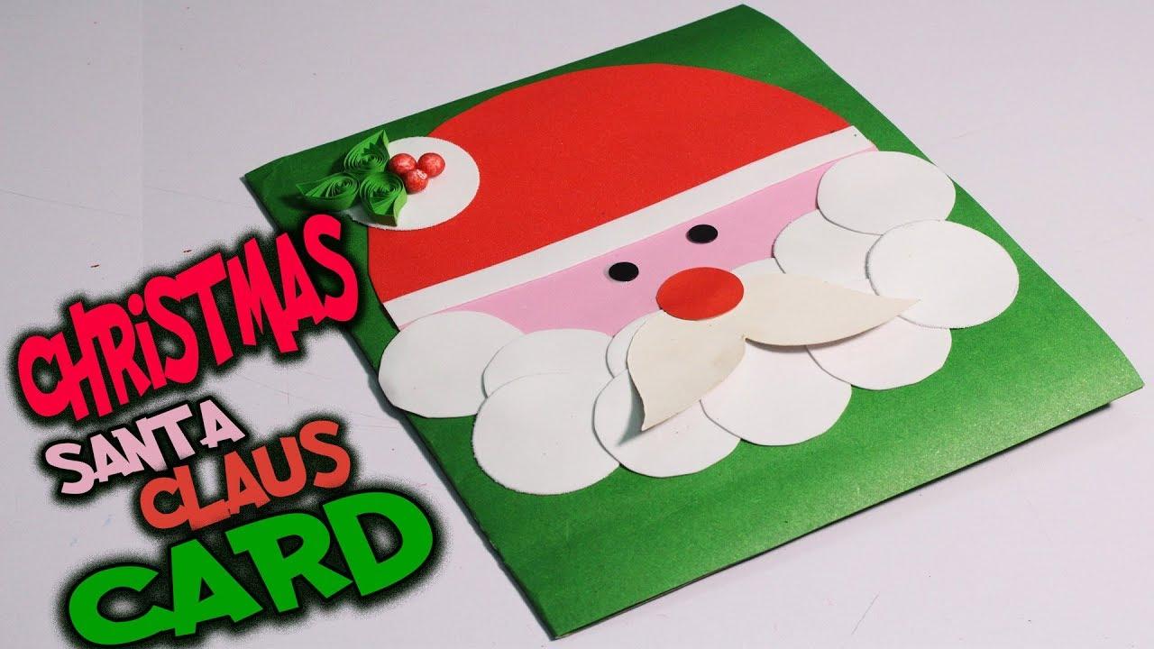 DIY SANTA CLAUS CHRISTMAS CARD | How to make Greeting Card for ...