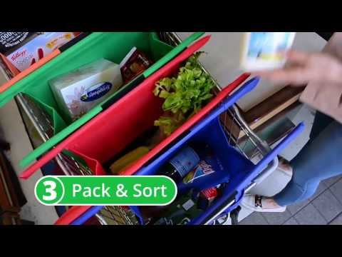 Reusable Grocery Bag . Shopping Cart Trolley Bags