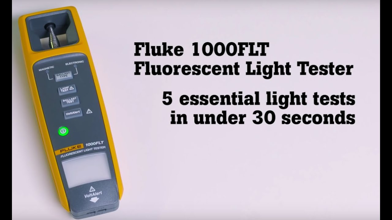 Fluke 1000flt fluorescent light tester youtube fluke 1000flt fluorescent light tester arubaitofo Image collections