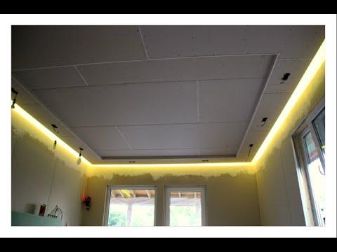 видео: Парящий потолок секреты мастерства (дом из sip Понелей ) монтаж гкл