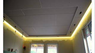 Парящий потолок секреты мастерства (дом из SIP панелей ) мастер класс монтаж гипсокартона