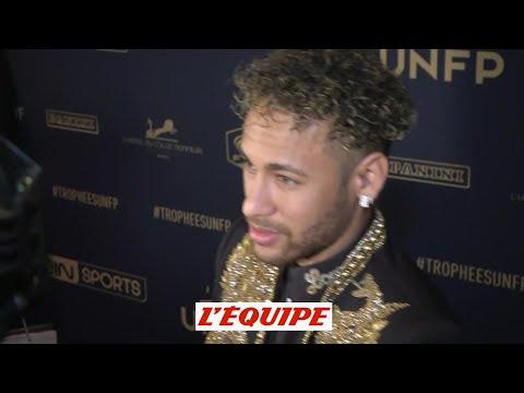 Neymar «Je ne veux pas parler de transfert» - Foot - Trophée UNFP