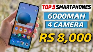 Top 5 Best smartphone Under 8000 in 2021