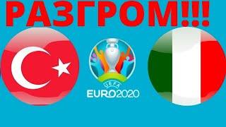 РАЗГРОМ Футбол Евро 2020 Турция Италия итог и результат Чемпионат Европы по футболу 2020