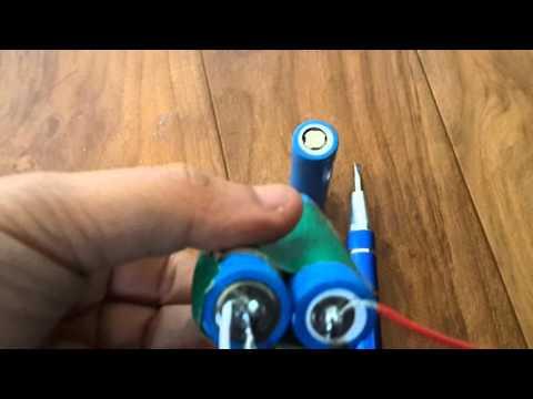 배터리 연결  부분 납땜 하기