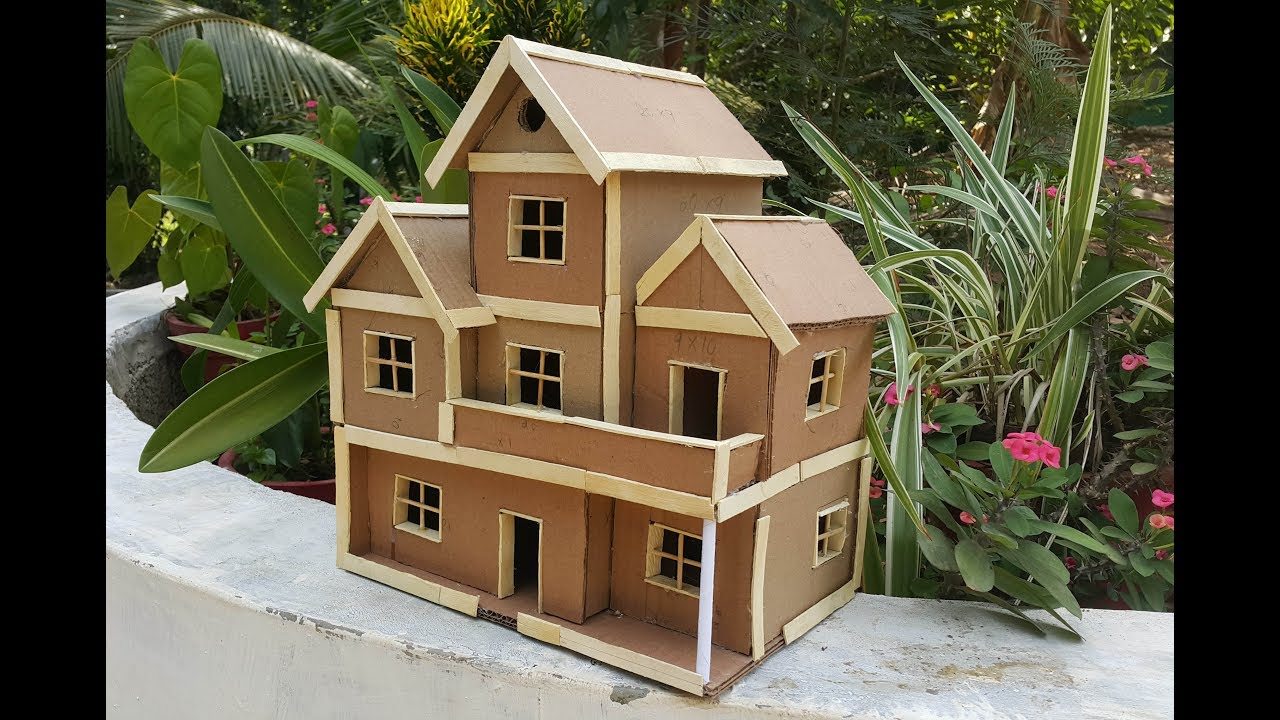 how to make cardboard house / diy cardboard home/ DIY ...