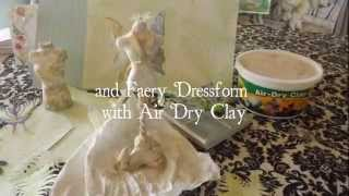 Fern Faery Art Dress With Air Dry Clay Dressform