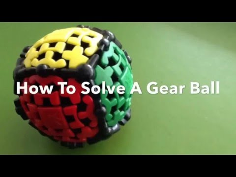 HOW TO SOLVE A GEAR BALL (easy to learn)