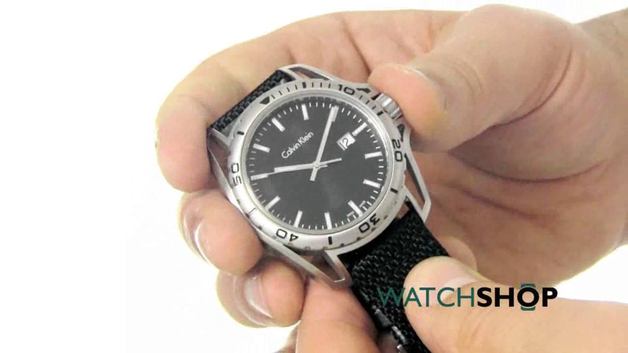 10979a5ef Calvin Klein Men's Earth Watch (K5Y31TB1) - YouTube