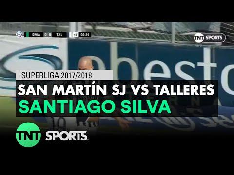 Santiago Silva (0-1) San Martín SJ vs Talleres | Fecha 16 - Superliga Argentina 2017/2018