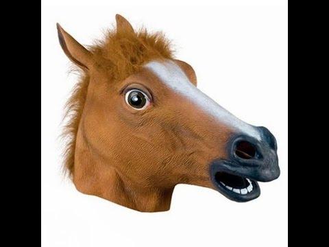 masque t te de cheval jouet pour les enfants youtube. Black Bedroom Furniture Sets. Home Design Ideas