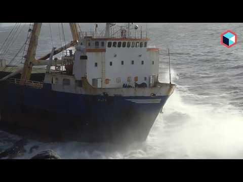 Корабль-призрак причалил к берегам Ирландии