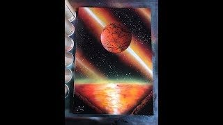 How to SPRAY PAINT ART planet for beginners by Jon Barber