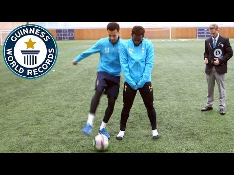 Spurs star Dele Alli attempts to break nutmeg world record - Guinness World Records