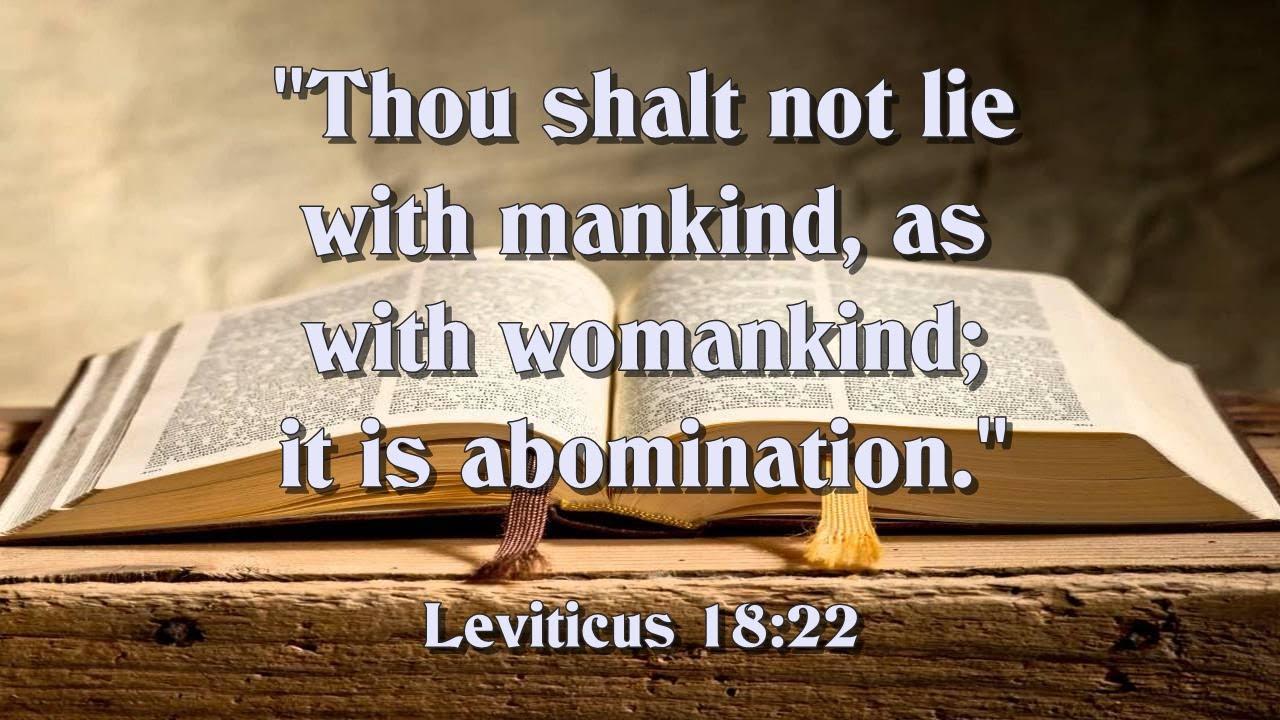 Leviticus 18:22 - YouTube