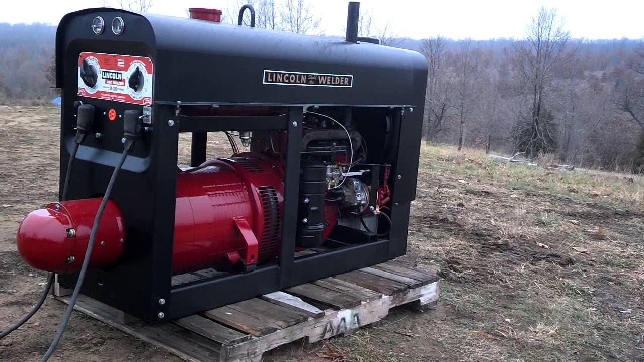 hight resolution of lincoln welder sa200 pipeliner k6090 red face 1968 sold