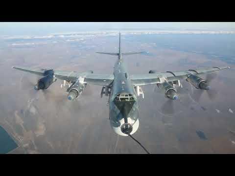 BREAKING: Russian long-range bombers Tu-95 target ISIS positions in Idlib & Deir ez-Zor in Syria