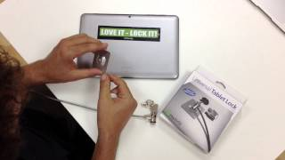 How To Use Maclocks Tablet/smartphone Plate Lock