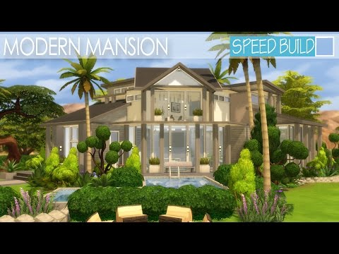 The Sims 4 House Building - Modern Mansion | Speed Build