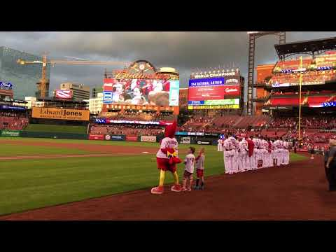 Kirk Day School Singers Perform National Anthem at Cardinals Game