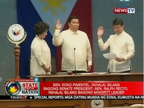 SONA: Sen. Pimentel, hinirang na Senate President