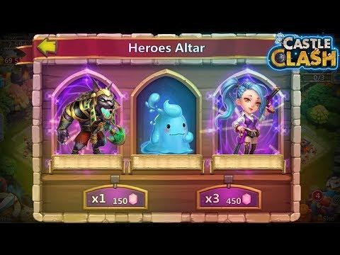 Castle Clash : Rolling 30k Gems For Anubis And Gunsliger