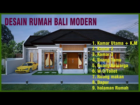 DESAIN RUMAH BALI MODERN