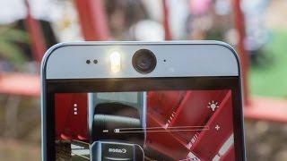 تجربة الكاميرا الأمامية للهاتف HTC Desire Eye