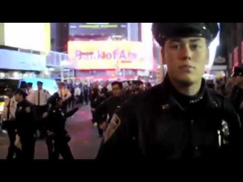 U.S. Marine Takes On 30 Cops In Wallstreet  - Ooh-rah!!