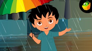 Barish Aayi Cham Cham Cham- Hindi Animated/Cartoon Nursery Rhymes For Kids