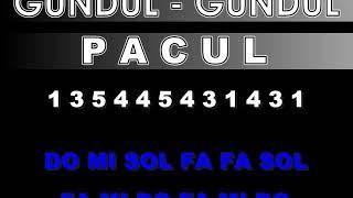 Gambar cover NOT LAGU GUNDUL   GUNDUL PACUL - LAGU DAERAH JAWA TENGAH