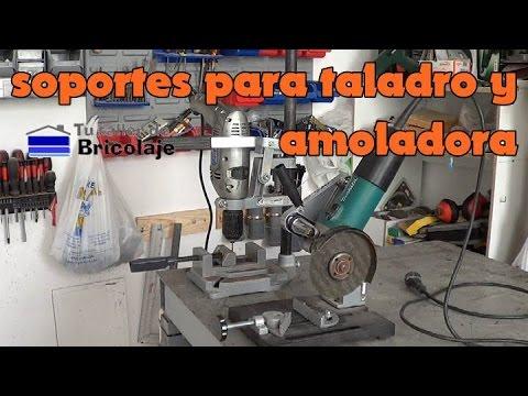 Soportes para la amoladora o radial y para el taladro