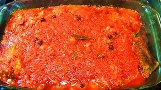 ЖАРЕНАЯ РЫБА под соусом / Как приготовить рыбу В ТОМАТНОМ СОУСЕ