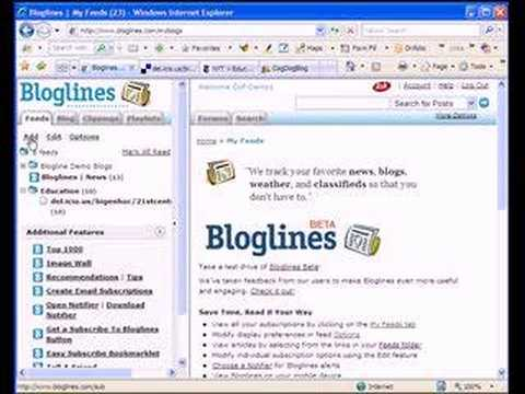 How to Post RSS Feeds to Bloglines
