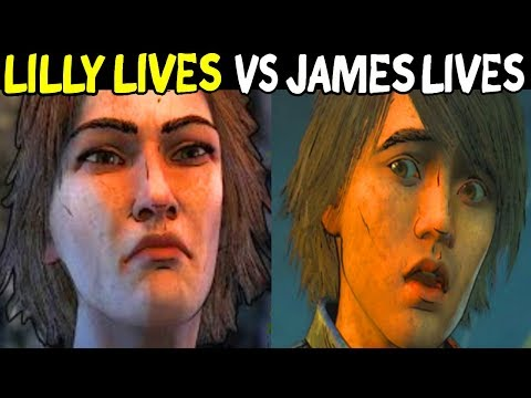 LILLY LIVES PATH Vs. JAMES LIVES PATH - All Outcomes Choices- The Walking Dead Season 4 Episode 4